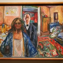 Edvard Munch, The artist and his Model. 1920-21