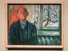 Edvard Munch, Self-portrait by the Window, 1940